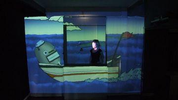 Foto des Video-Tanz-Theaters für Kinder im Rahmen des Wissenschaftsjahres 2017 – Meere und Ozeane.