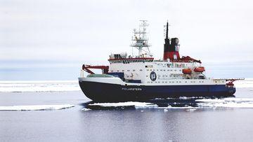 """Foto des deutschen Forschungsschiffes """"Polarstern"""""""