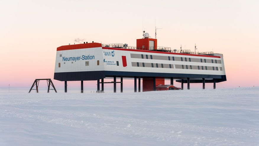 Die Neumayer-Station III in der Antarktis