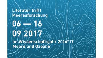 Veranstaltungsplakat Literatur trifft Meeresforschung des internationalen literaturfestivals berlin