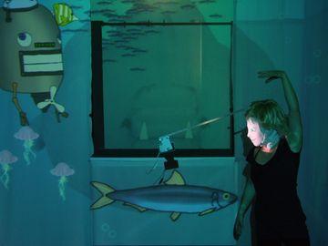 Ein Szenenausschnitt aus dem Theraterstück Jona und die Tiefseemonster