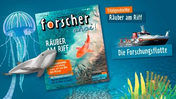 "Das Cover des Magazins ""forscher ahoi""."
