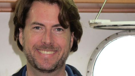 Photo of Henry Ruhl, a marine biologist at the British National Oceanography Centre (NOC) in Southampton.