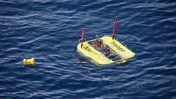 Der Unterwasserroboter TRAMPER an der Meeresoberfläche